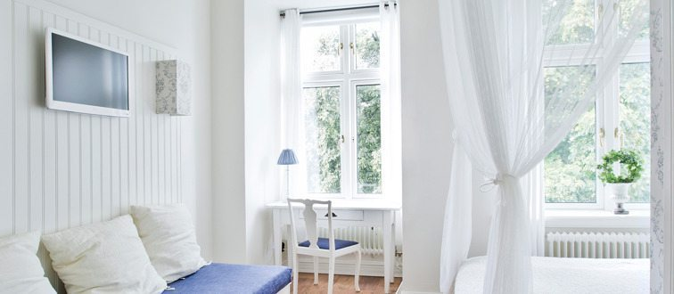 I et nyt tv-program kan man vinde pengepræmie til at starte sit eget hotel. Her fra Okens B&B i Varberg som et godt eksempel.
