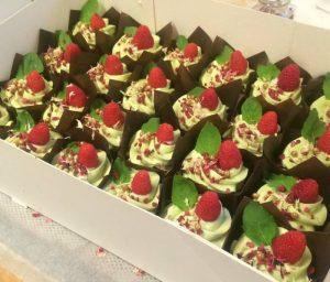 Hindbær cupcakes