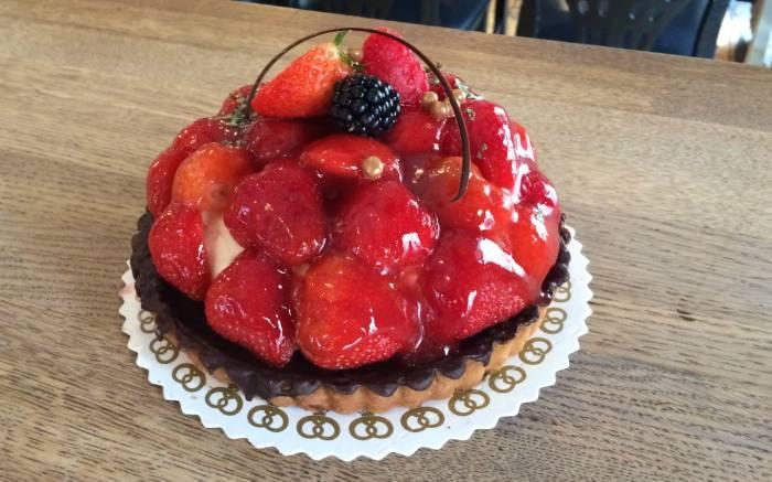 Jordbærtærten er en bestseller på Penny Lane i løbet af sommeren Foto: Penny Lane