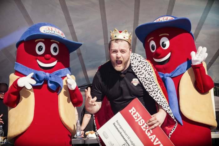 Ruben Lemcke-Mikkelsen har vundet DM i Hot-dog tre år i træk  Foto: Steff Houlberg