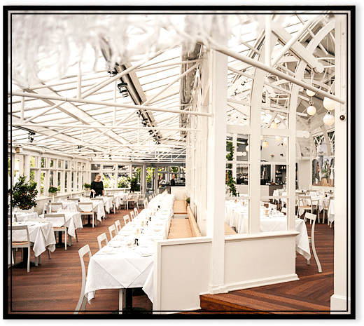 Billede fra Brødrene Prices restaurant i Tivoli.  Foto: tivoli.brdr-price.dk