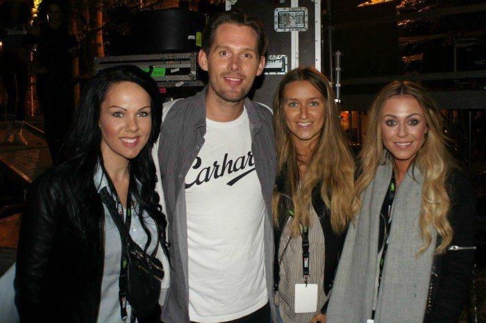 Rasmus Seebach med vores tre bloggere Camilla Framnes, Charlotte Caroline og Amanda Palm