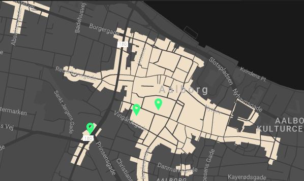 Her kan man se, hvor scenerne stilles op til Metropol inde i Aalborg centrum
