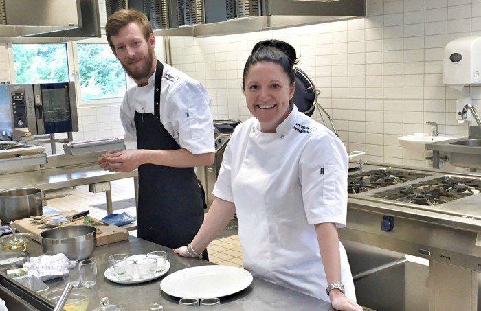 Sarah Kruse fra Kruse Development og Simon fra Fyrklit