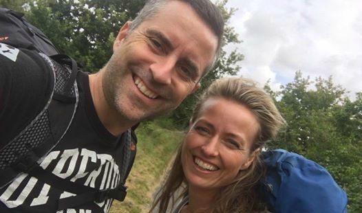 Risgaard og coach Trine Holm fra PROGRESO efter deres vandring