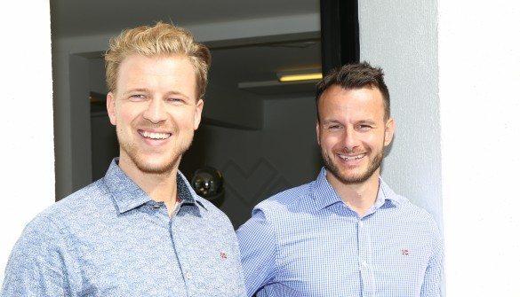 Lasse Frederik Pedersen og Rasmus Lund Christensen fra Din Mægler Foto: Mette Heiring