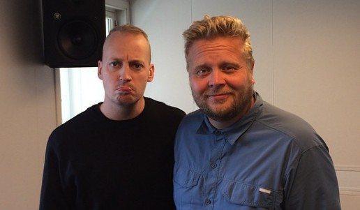 Johnni Gade og Niels Skovmand (til højre) fra ANR's morgenprogram Morgenkøterne Foto: ANR Instagram @radio_anr