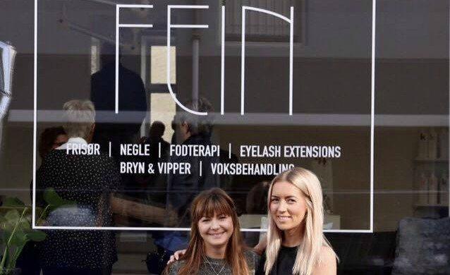 De to indehavere af Aalborgs nye skønheds-salon FEIN. Til højre Kristina Dand og venstre er det Katrine Vadmand