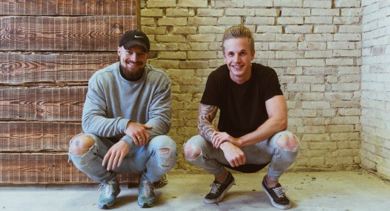 Stifterne af We Feat Frederik Løwe (til venstre) og Benjamin Hvid