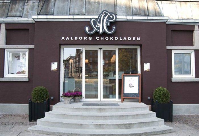 Aalborg Chokoladens flagship-store på Kennedys Plads