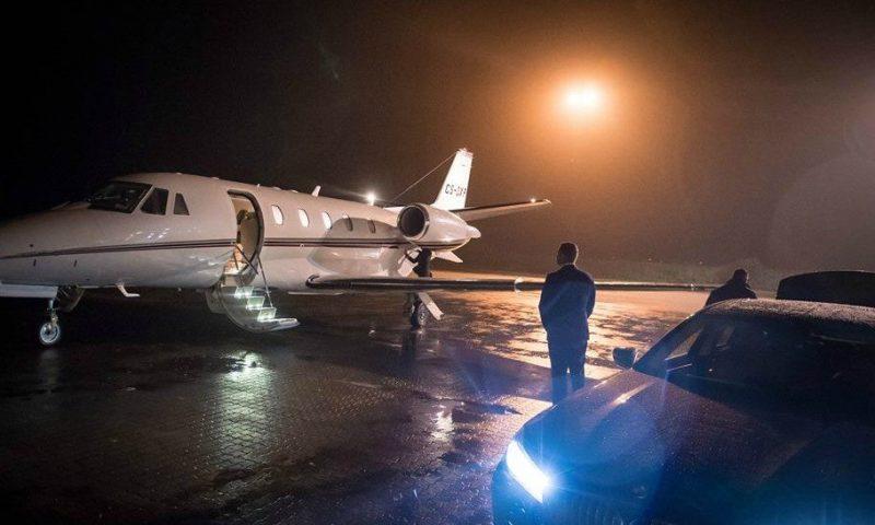 Privatflyet landede 21.30 i Aalborg Foto: Musikkens Hus