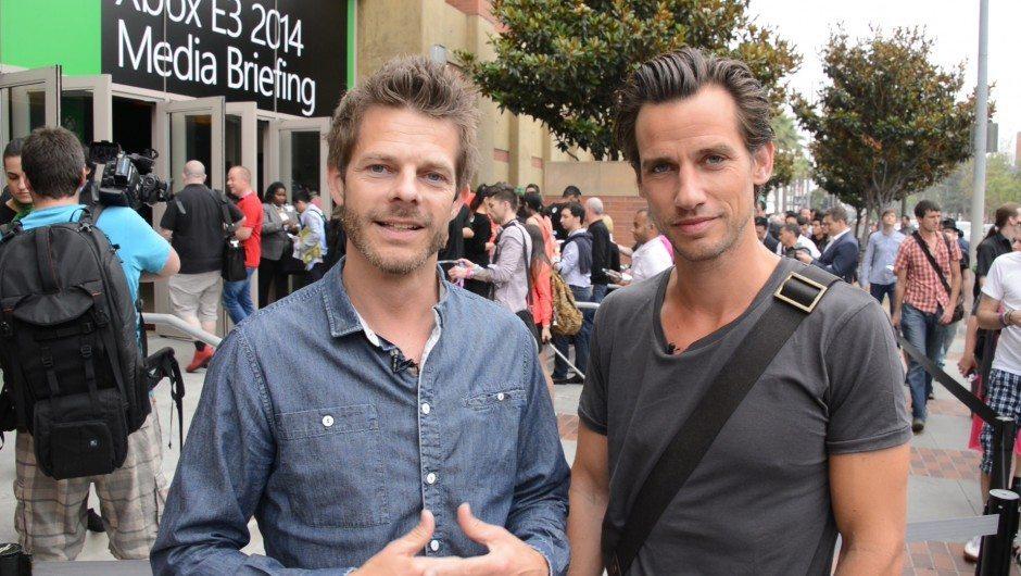 Thomas Bense til venstre i selskab med Christian Bitz Foto: Pixel.tv