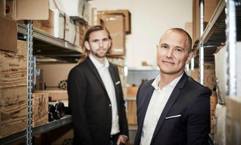 Rasmus Nielsen og Anders Børsen, mændene bag Rare Wine Invest. Torsdag inviterer de til spændende event på Helmuth