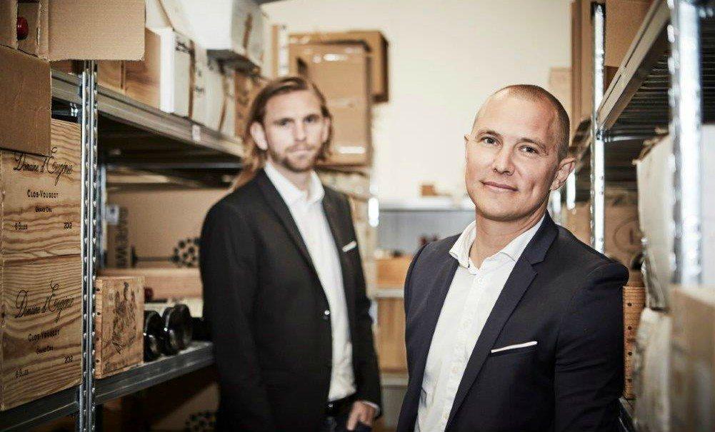 Rasmus Nielsen og Anders Børsen, mændene bag Rare Wine Invest