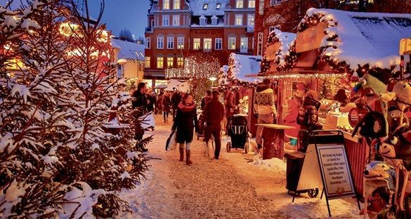 Julemarked på Gammeltorv. Foto: VisitAalborg