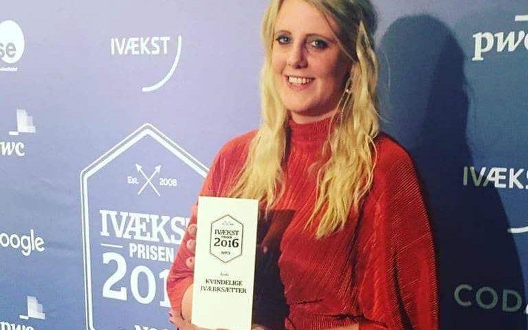 Lisa Dalsgaard fra Aalborg blev kåret til Årets Kvindelige Iværksætter i Danmark