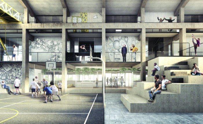Sådan kommer der til at se ud i Aalborgs nye Street Mekka Fotomontage: PR
