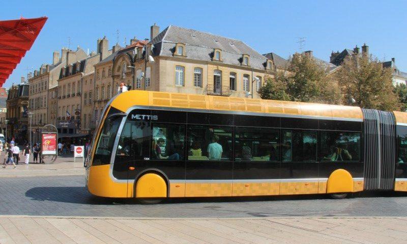 Sådan ser BRT BUSSEN ud i den franske by Metz
