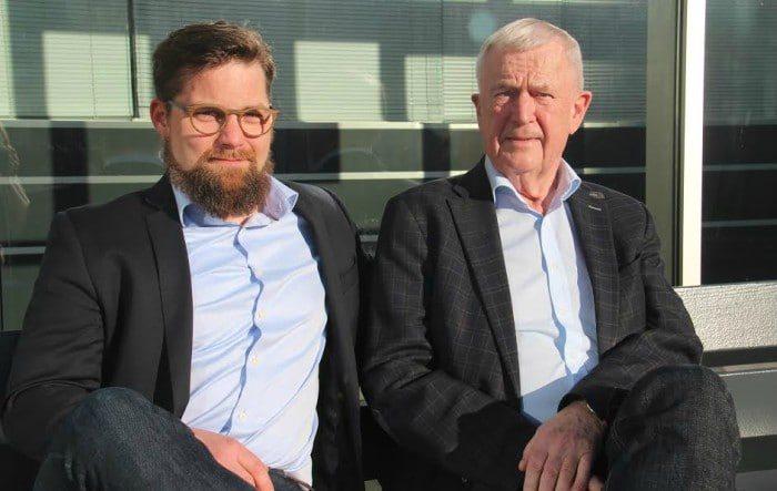 Den nye direktør for AKKC Nicolaj Holm sammen med Ernst Trillingsgaard Foto: AKKC