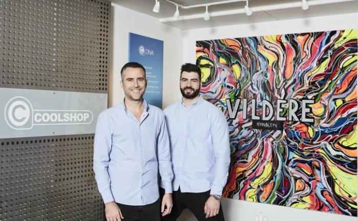 Jacob Risgaard, medstifter af Coolshop (venstre) og Daniel Svensson skal nu arbejde sammen