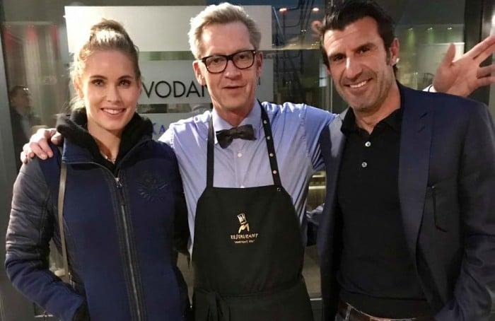 Morten Kok havde i maj besøg af den fodboldlegenden Luis Figo og dennes kone