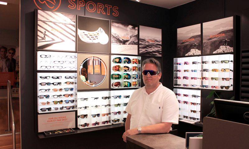 bcca25b21bbe Vind et par fede sportsbriller i Profil Optik