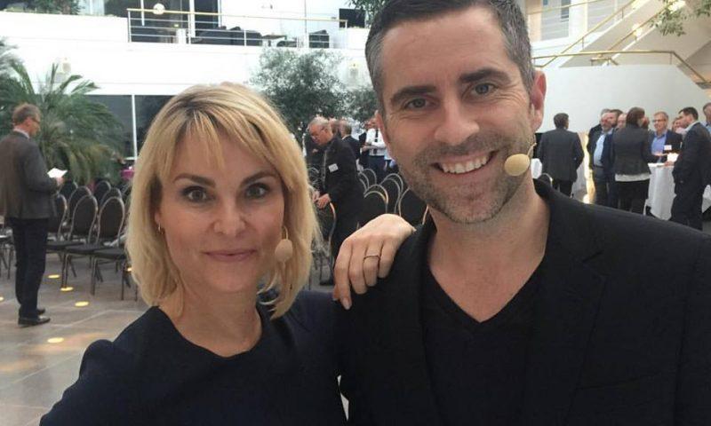 Jacob Risgaard og Michelle Bellaiche var værter sammen til Lykketrold Fundraiser