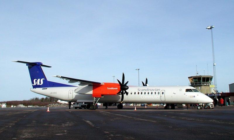 PR-foto af den DASH flytype som nødlandede i Aalborg