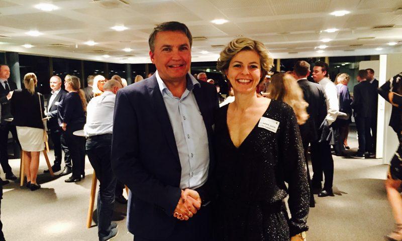 Frank Jensen, direktør i Erhverv Poul Erik Bech Aalborg og Marianne Schütze, bestyrelsesmedlem i Gestus Nord