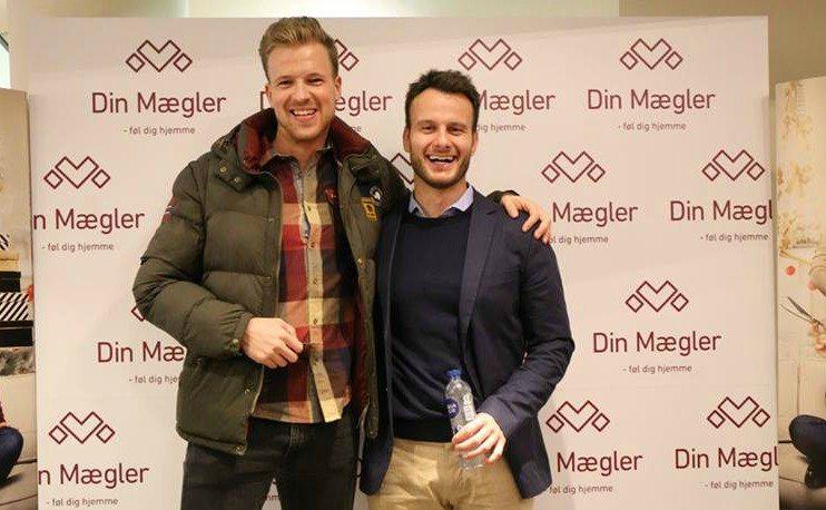 Lasse Frederik Pedersen (til venstre) og Rasmus Lund Christensen fra Din Mægler