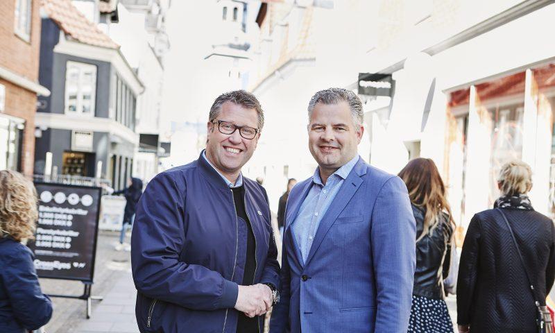 Direktør for Aalborg City Flemming Thingbak (venstre) og erhvervschef i Business Aalborg Tonny Thorup
