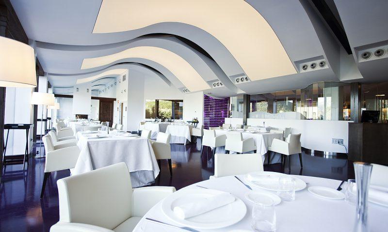 Sådan ser der ud på den spanske restaurant Señorío de Nevada.