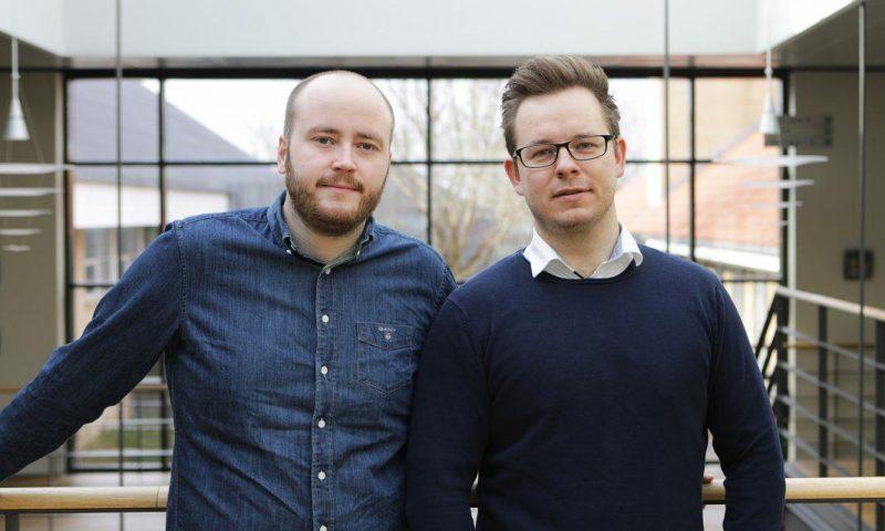 Morten Henriksen (tv) og Christoffer Baadsgaard fra Debito