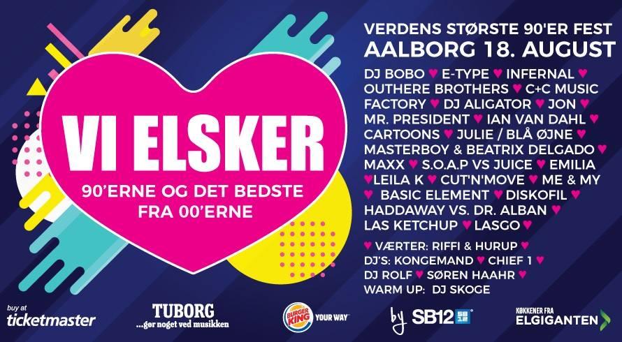 Vi Elsker 90'erne har plakaten klar: Så fedt bliver det i Aalborg