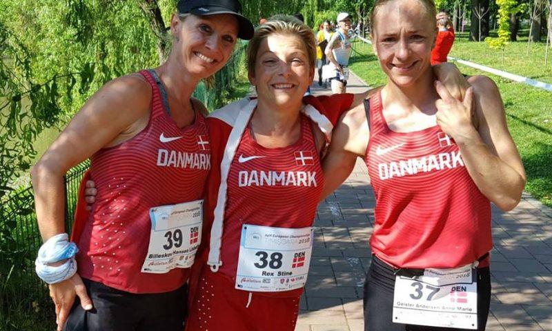 (På billedet, Stine Rex - midterst, Lisbeth Billeskov - tv., Anne-Marie Geisler - th. Fotokredit: Dansk Atletik Forbund