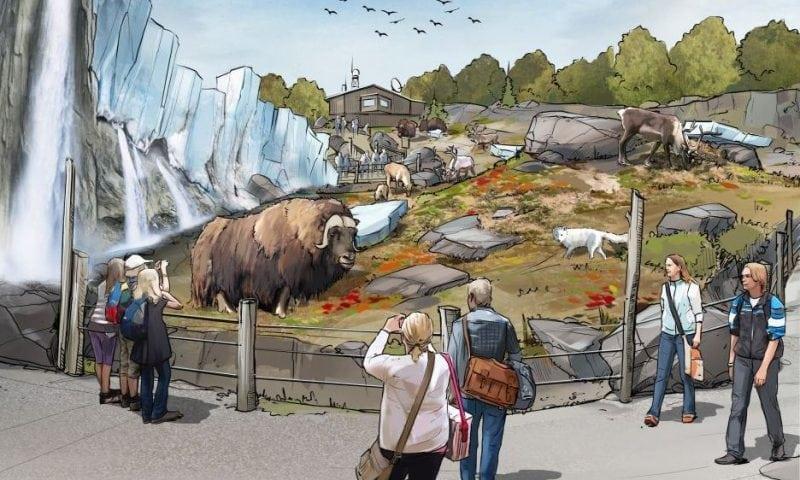 En illustration af hvordan tundraen kan komme til at se ud.