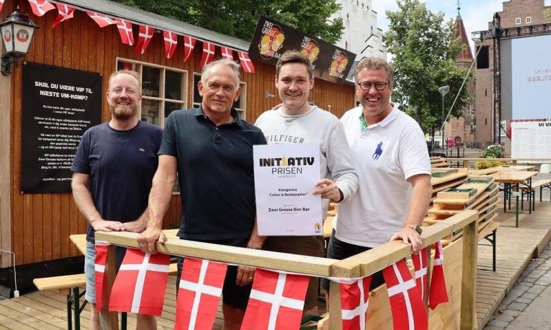 Fra venstr: Zwei Grosse Bier Bar Carsten Juhl, Henrik Foget Jensen,  Kasper Østergaard Sørensen, og Flemming Thingbak, Aalborg City