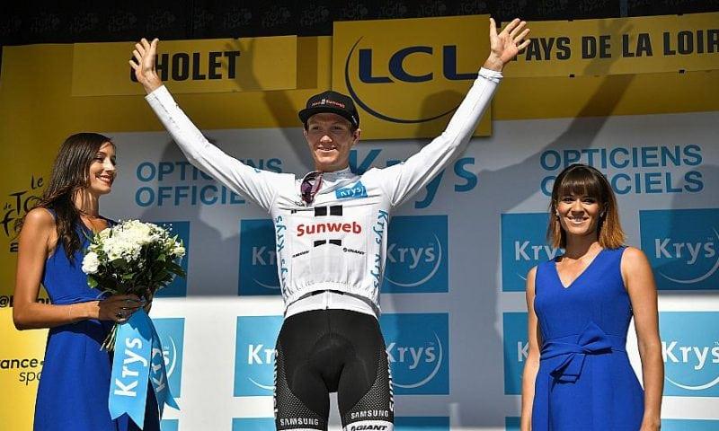 Søren Kragh Andersen kørte i den hvide ungdomstrøje under Tour de France