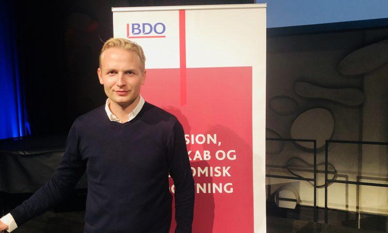 Mads Faurholt Jørgensen besøgte Musikkens Hus med BDO Aalborg