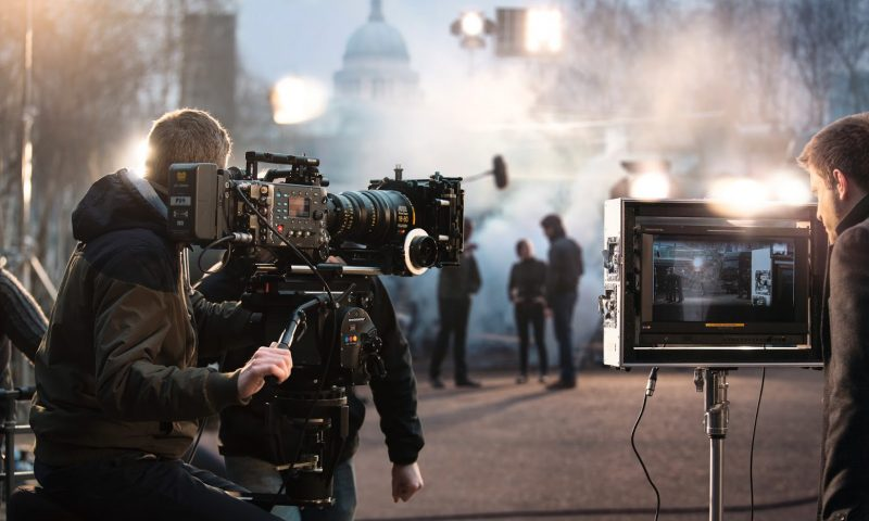 PR-billede fra filmoptagelser