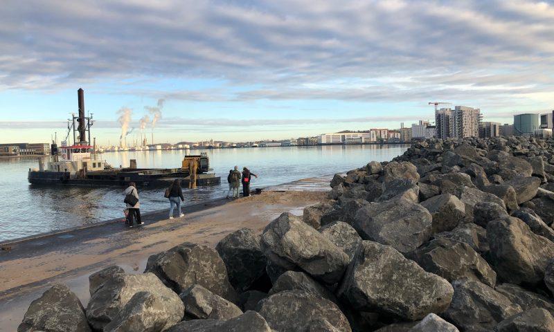 Sådan så der ud lørdag på Aalborgs Havnefront