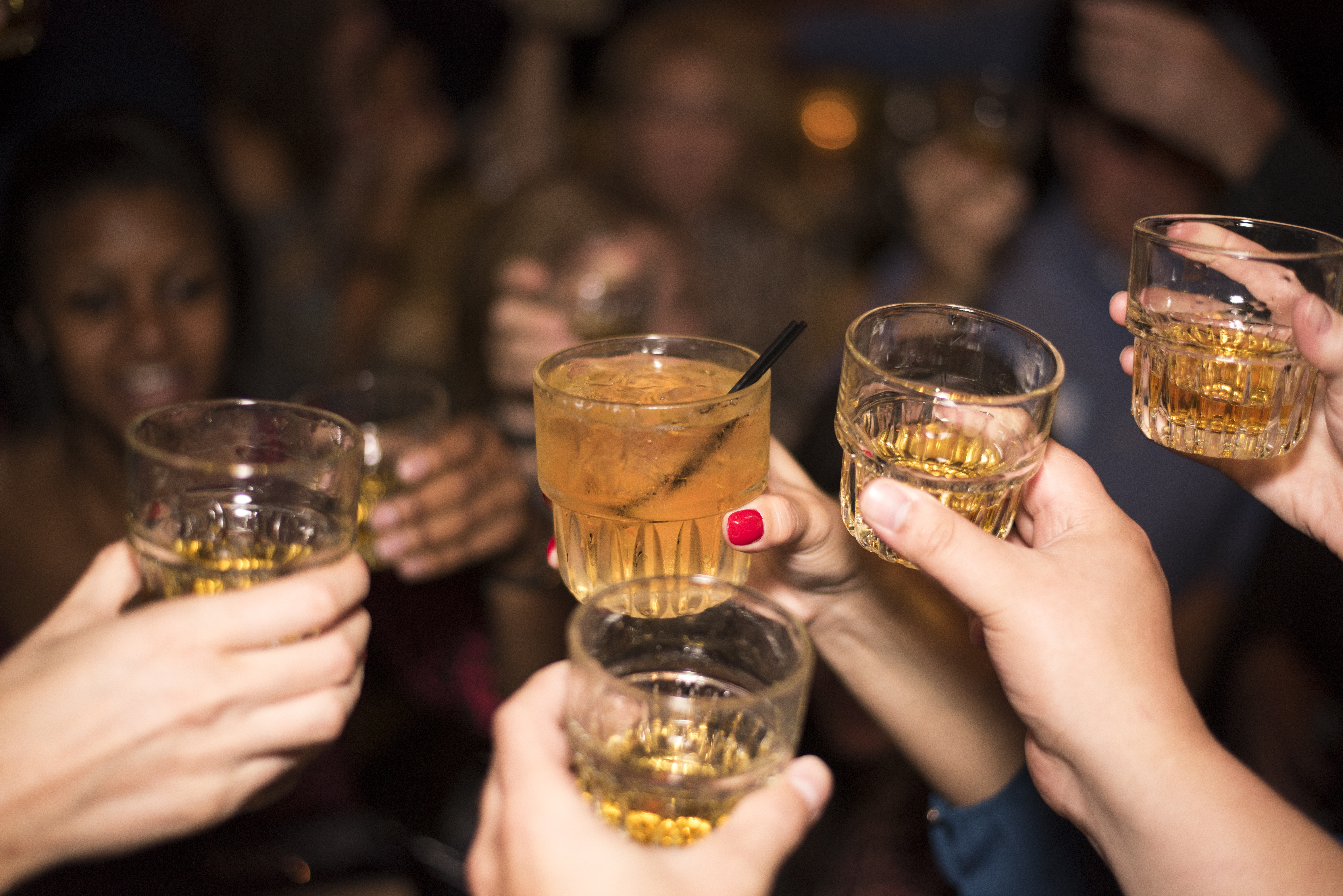 Drinks på natklub