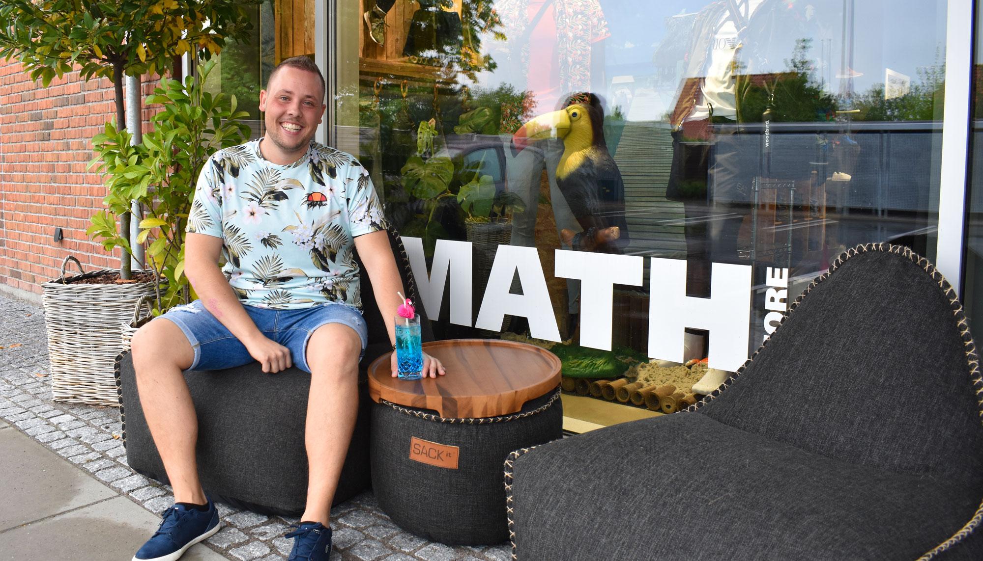 Helt unik butik: MATHstore er forvandlet til et sommerparadis