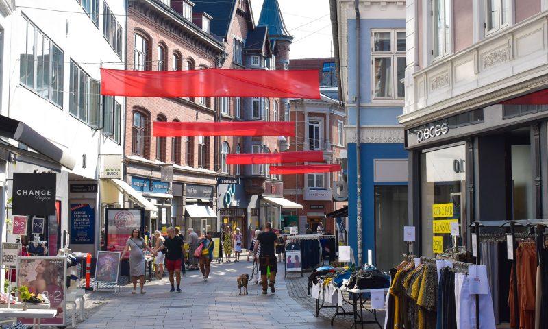 Arkivfoto Aalborg i Rødt