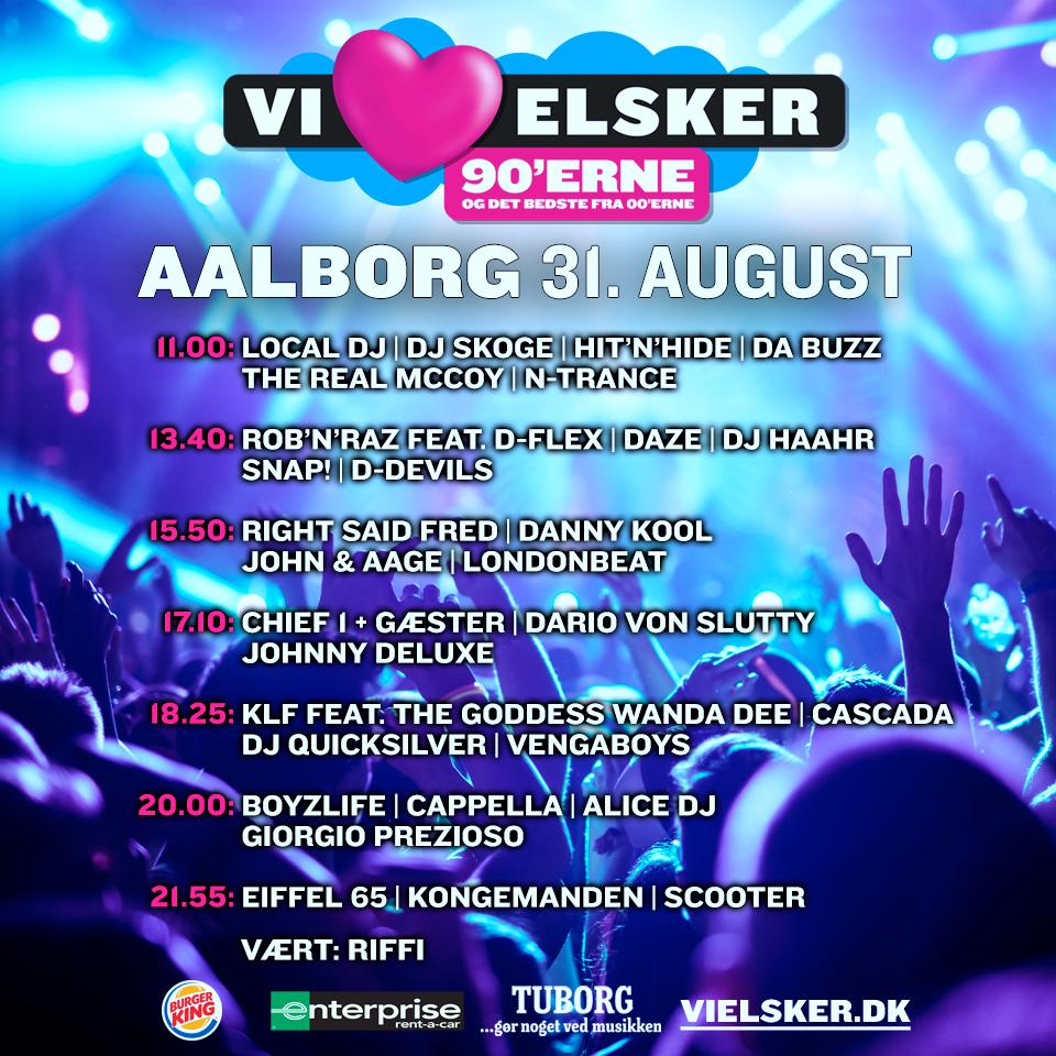 Så er det snart: Her er spilleplanen for Vi Elsker 90'erne i Aalborg