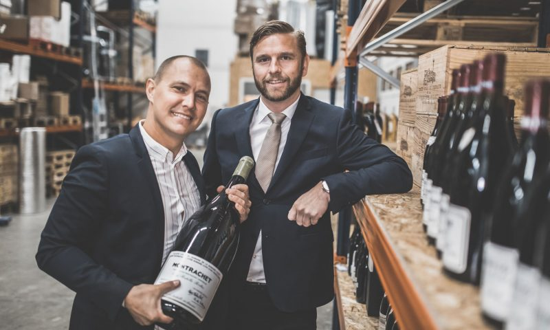 Rasmus Nielsen (tv) og Anders Børsen står i spidsen for Rare Wine virksomheden