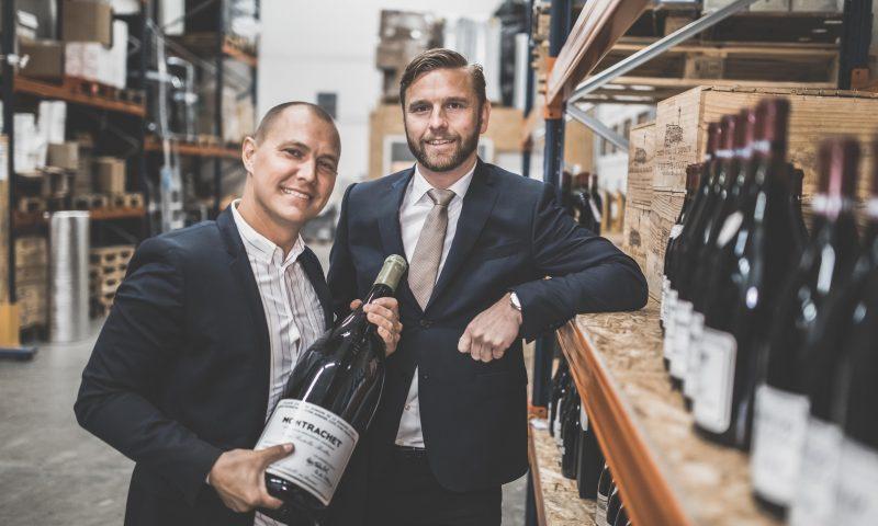 Rasmus Nielsen (tv) og Anders Børsen har godt gang i Rare Wine forretningen
