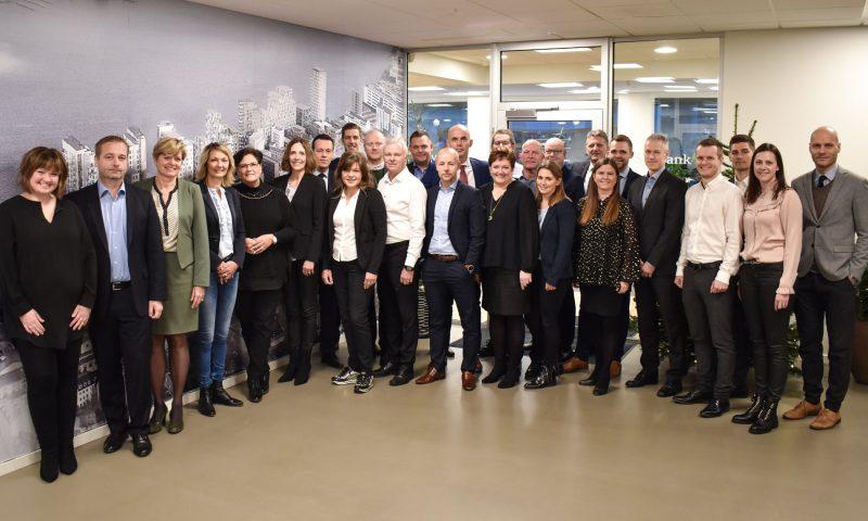 Hele teamet hos Sydbank i Aalborg
