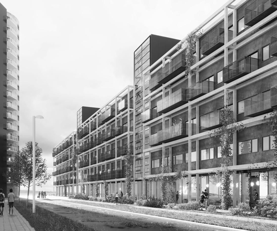 Stort byggeri tager form: Her kommer 220 studieboliger med udsigt over Limfjorden