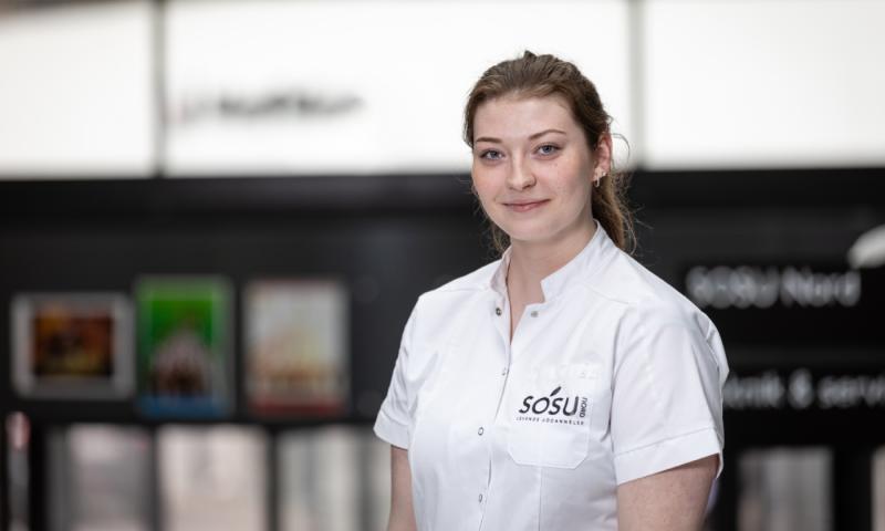 Social- og sundhedsassistentelev fra SOSU Nord, Cecilie Svanekær Holst Christensen